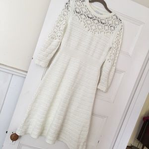 ASOS Curve Dresses - ASOS Curve Cream Crochet Dress - Size 14